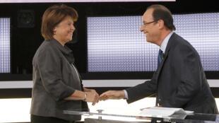 Martine Aubry e François Hollande discutiram questões econômicas, sociais e internacionais durante o último debate antes do segundo turno das primárias do Partido Socialista.