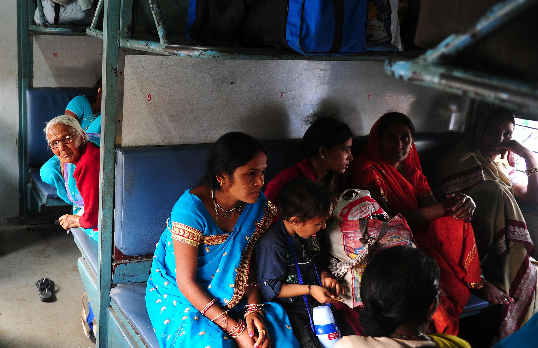 Un train pour femmes, en Inde, en février 2015, à Allahabad.