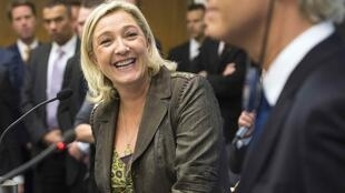Marine Le Pen and Geert Wilders present their project