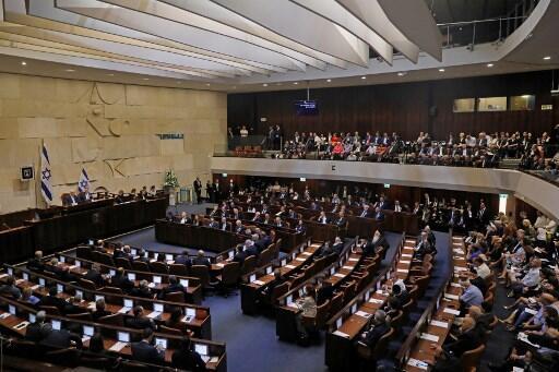 Knesset, o parlamento israelita. 3 de Outubro de 2019.