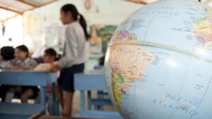 Une salle de classe, en Equateur.