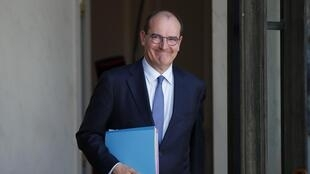 Jean Castex au palais de l'Elysée le 7 juillet 2020.