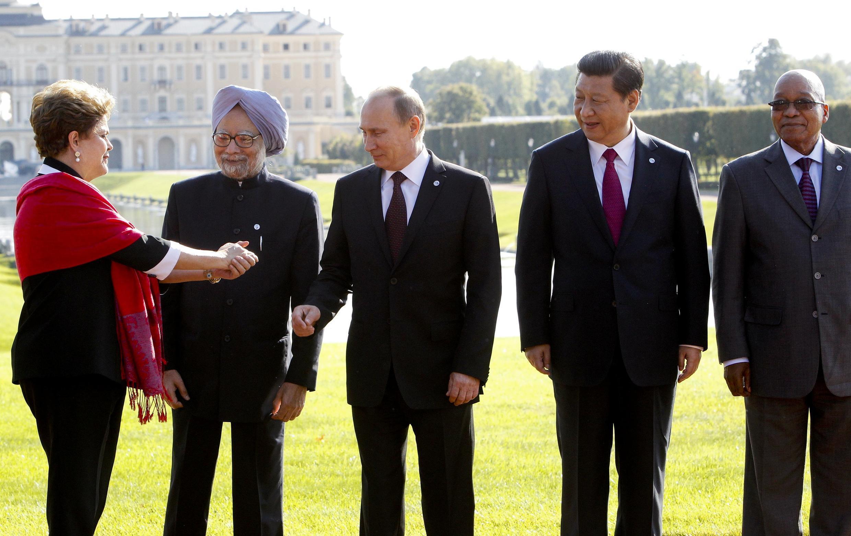 Líderes dos BRICS se reuniram antes da abertura da cúpula do G20 nesta quinta-feira, 5 de setembro de 2013.