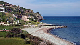 The beach in Sisco, Corsica