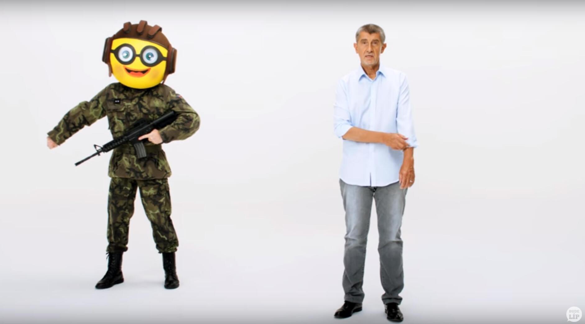 """Capture d'écran du clip de campagne """"musclé"""" d'Andrej Babis."""