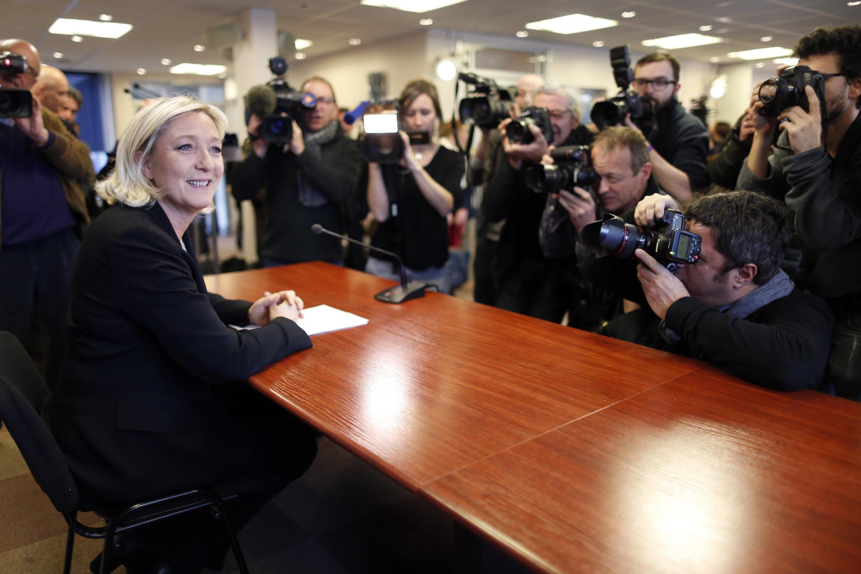 Marine Le Pen, presidente do partido de extrema-direita Frente Nacional