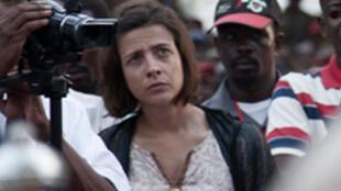 Marie Aude Fouéré (C), directrice adjointe de l'IFRA, l'Institut français de recherche en Afrique.