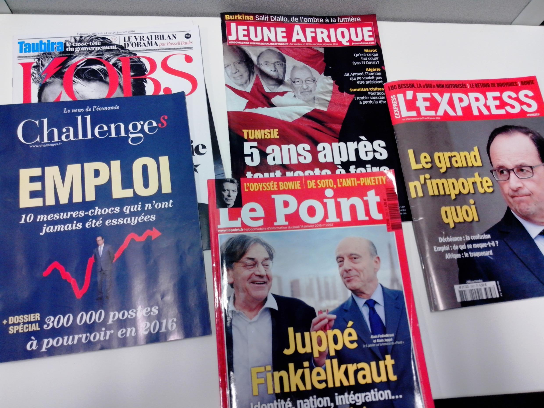 Capas dos semanários e magazines franceses de 16/01/16