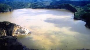 Vue du lac Nyos, au Cameroun.