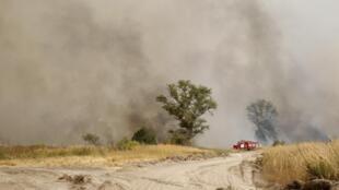 Дым от горящего леса в Рязанской области