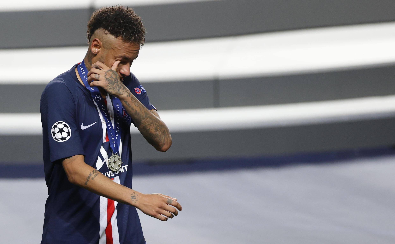 Neymar was in tears after Paris Saint-Germain lost to Bayern Munich in Sunday's Champions League final in Lisbon