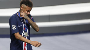 Neymar was in tears after Paris Saint-Germain lost to Bayern Munich in Sunday's Champions League final in Lisbon