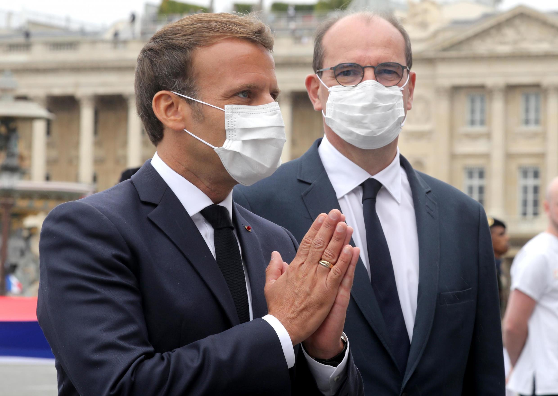 Shugaba Emmanuel Macron na Faransa da sabon Firaministan kasar Jean Castex.