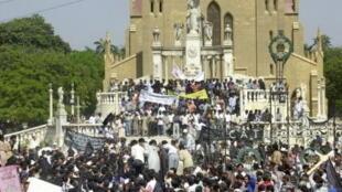 L'église chrétienne de Karachi, au Pakistan.
