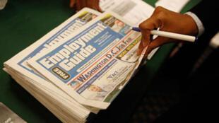 A taxa de desemprego recuou, mas 12,5 milhões de americanos continuam sem trabalho.
