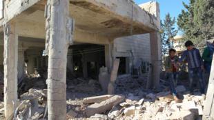 A cidade de Urum al-Kubra, na província de Aleppo.