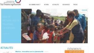 Katibu Mtendaji wa Jumuiya ya Kimataifa ya Francophonie, Michaëlle Jean, mjini Bambari, nchini Afrika ya Kati tarehe 13, Mwezi wa Nne, 2017.