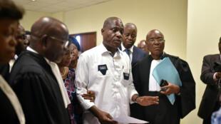 Martin Fayulu, à la Cour constitutionnelle de Kinshasa le 12 janvier 2019.