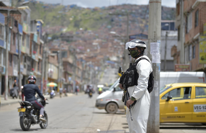 Colombia ya registra 9.000 muertos por Coronavirus. Foto de Bogotá.