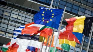 Bandeiras dos Estados-membros da União Europeia.