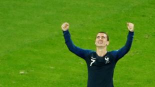 آنتوان گریزمن، بازیکن خط حملۀ تیم ملی فرانسه پس از پیروزی بر بلژیک – ١٠ ژوئیه ٢٠١٨