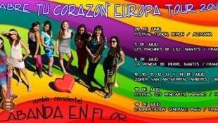 La Banda en Flor se encuentra de gira en Europa, con actuaciones programadas en Alemania, Bélgica y Francia.
