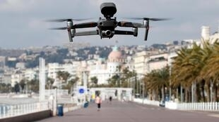 A drone used by police in action in Nice, France