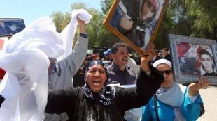 Wasu daga cikin iyalan da suka rasa nasu a juyin juya halin Tunisia
