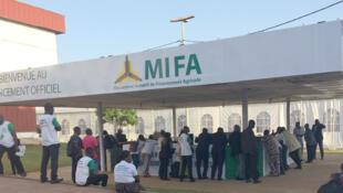 Entrée des locaux du MIFA, au Togo.
