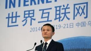 Chủ tịch  Alibaba  Mã Vân (Jack Ma), một trong những khuôn mặt nổi bật  tại « Đại hội internet toàn cầu » Ô Trấn, ngày 19/11/2014.