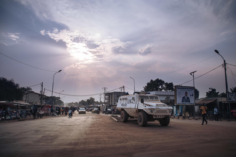 La mision de Naciones Unidas  MINUSCA en BANGUI RCA 000_8XM3QV 23/12/2020