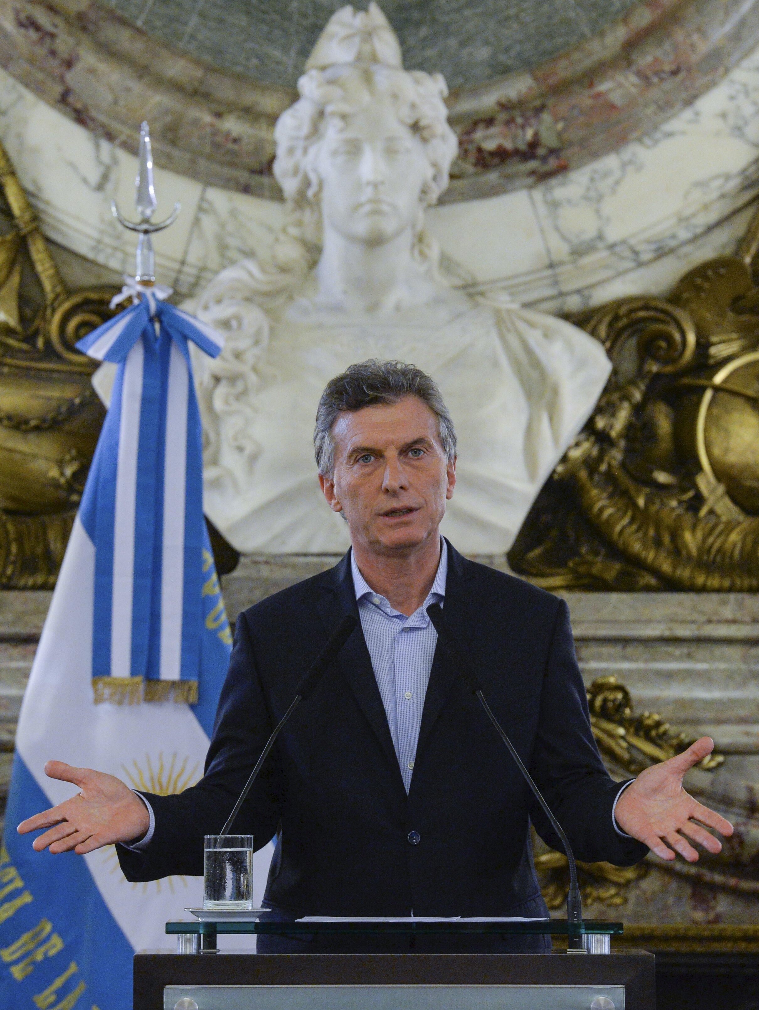 El presidente argentino Mauricio Macri.