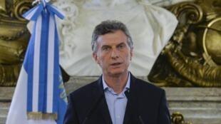 """O presidente argentino Mauricio Macri diz que não tem """"nada a ocultar""""."""