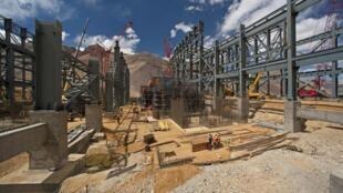 Des travaux dans la mine d'or de Pascua Lama.