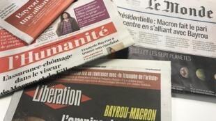 Primeiras páginas dos diários franceses 23/2/2017