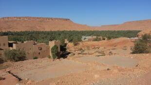 Un village de la Vallée du Ziz au Maroc.