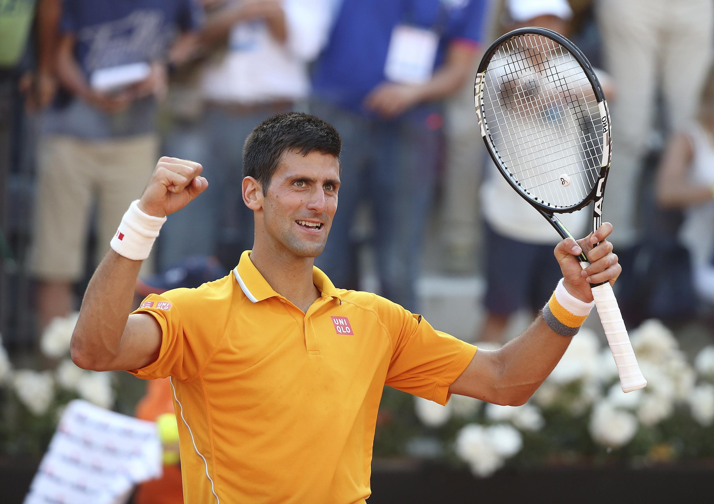 Novak Djokovic won his fourth Rome Masters title with his straights sets victory over Roger Federer