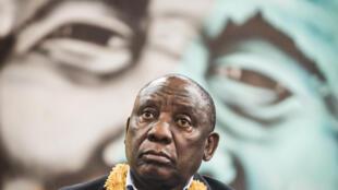 Le président sud-africain Cyril Ramaphosa, également président de l'ANC.