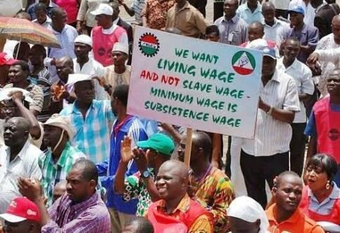 Nigeria Labour Congress protest over minimum wage
