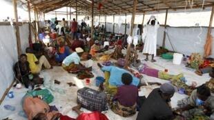 Sansanin da ake kula da lafiyar 'yan gudun hijirar kasar Burundi a Tanzania