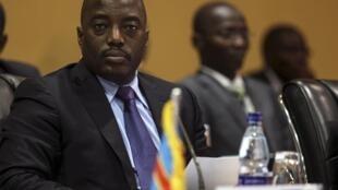 Le président de la RDC, Joseph Kabila, au sommet de la CIRGL le 8 août à Kampala.