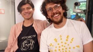Los colombianos Andrés Barón y Juan Pablo Plazas en RFI
