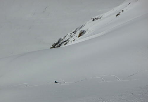 A skier in the Pyrenees