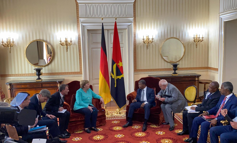 Encontro entre Angela Merkel e João Lourenço, em Luanda