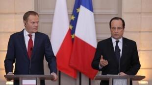Президент Франции Франсуа Олланд и премьер-министр Польши Дональд Туск