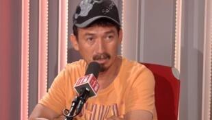 Mario Vergara en Radio Francia Internacional el 24 de julio de 2019.
