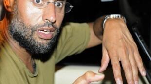 Saïf al-Islam, le fils de Mouammar Kadhafi, en août 2011 à Tripoli.