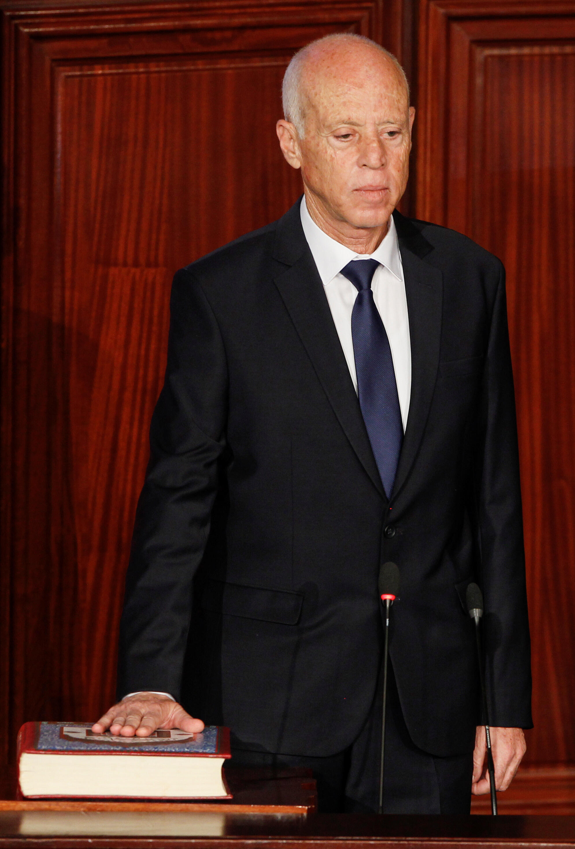 Sabon shugaban kasar Tunisia Kais Saied