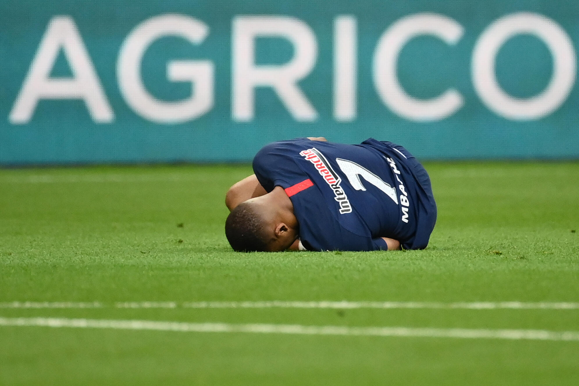Kylian Mbappe was forced off after a clumsy tackle by Saint-Etienne defender Loic Perrin