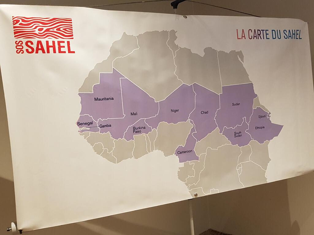 La carte du Sahel.